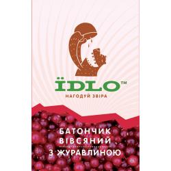 Батончик овсяный с клюквой IDLO