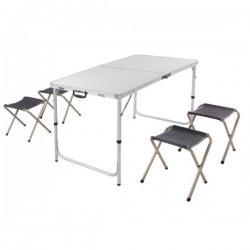 Комплект стол складной туристический и 4 стула PC1612S